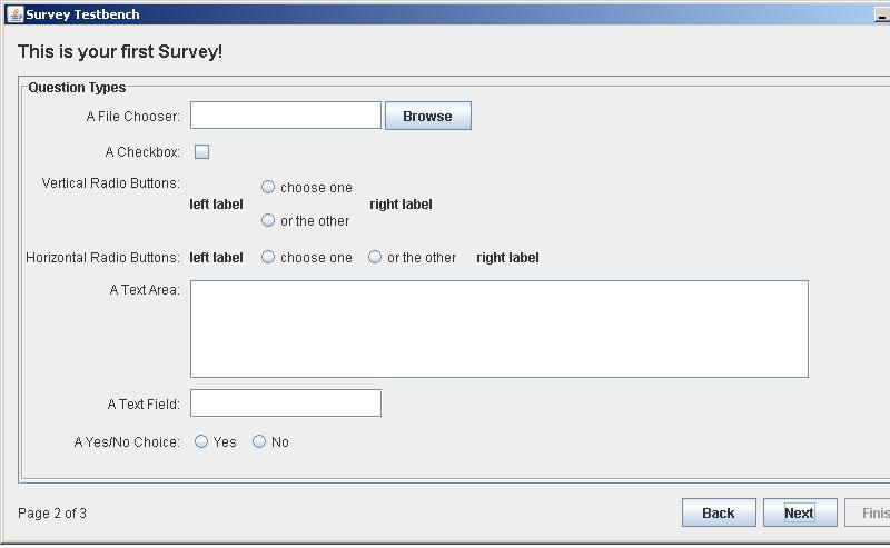 JSurveyLib screenshot 1