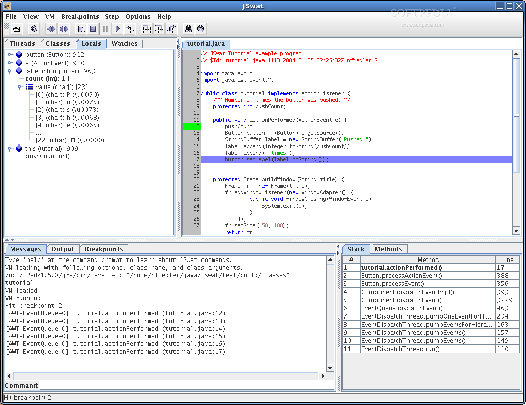 JSwat Java Debugger screenshot 1