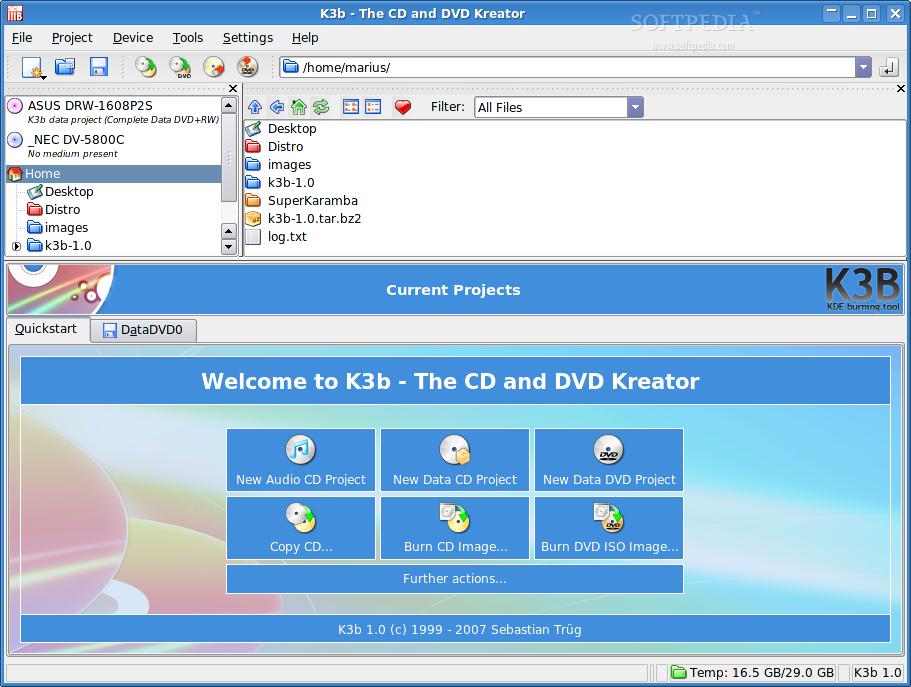 k3b linux