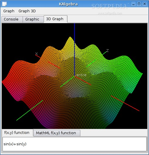 KAlgebra screenshot 2
