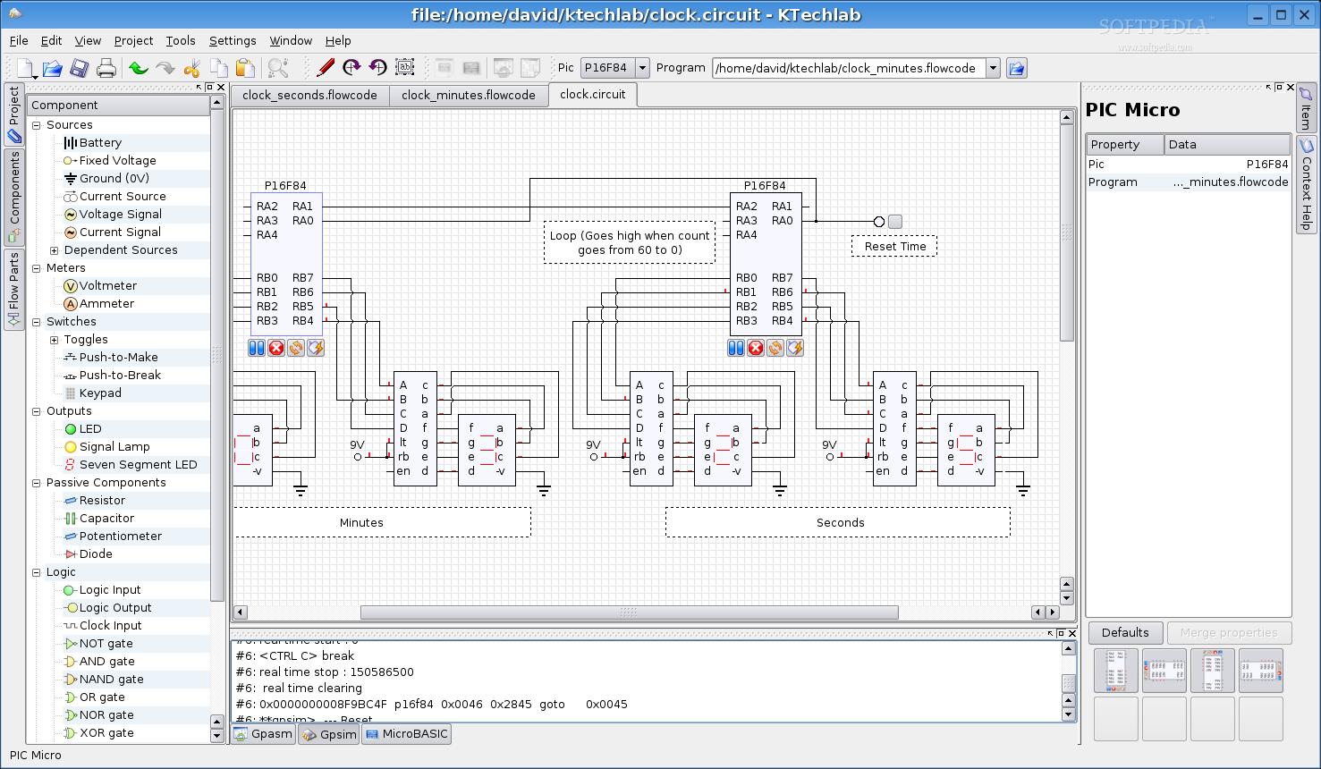Download Ktechlab Linux 037 Ubuntu Circuit Simulator