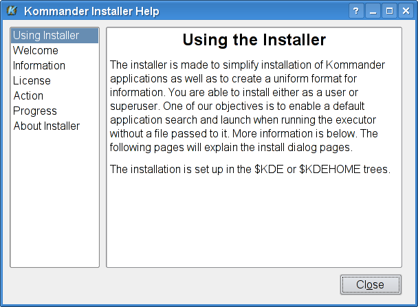 Kommander Project Tools screenshot 3