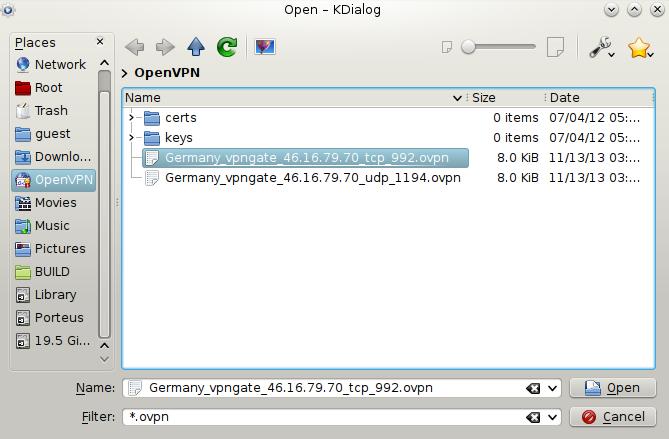 Download KopenVPN Linux 1 0