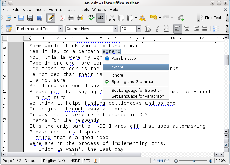 LanguageTool screenshot 1