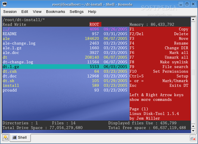 Linux DiskTool screenshot 1