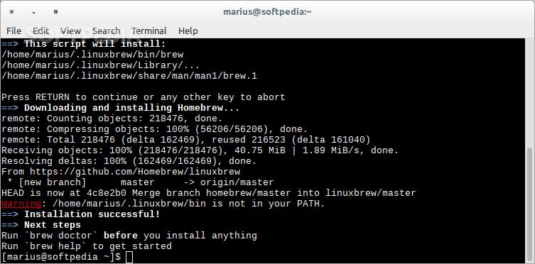 linuxbrew install node