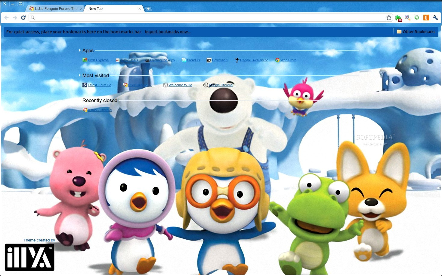Little Penguin Pororo Theme screenshot 1
