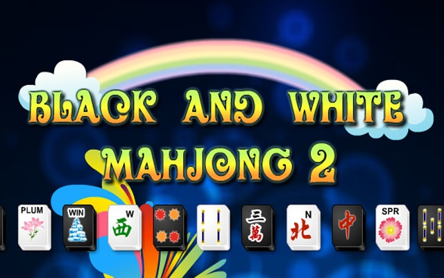 mahjong black and white