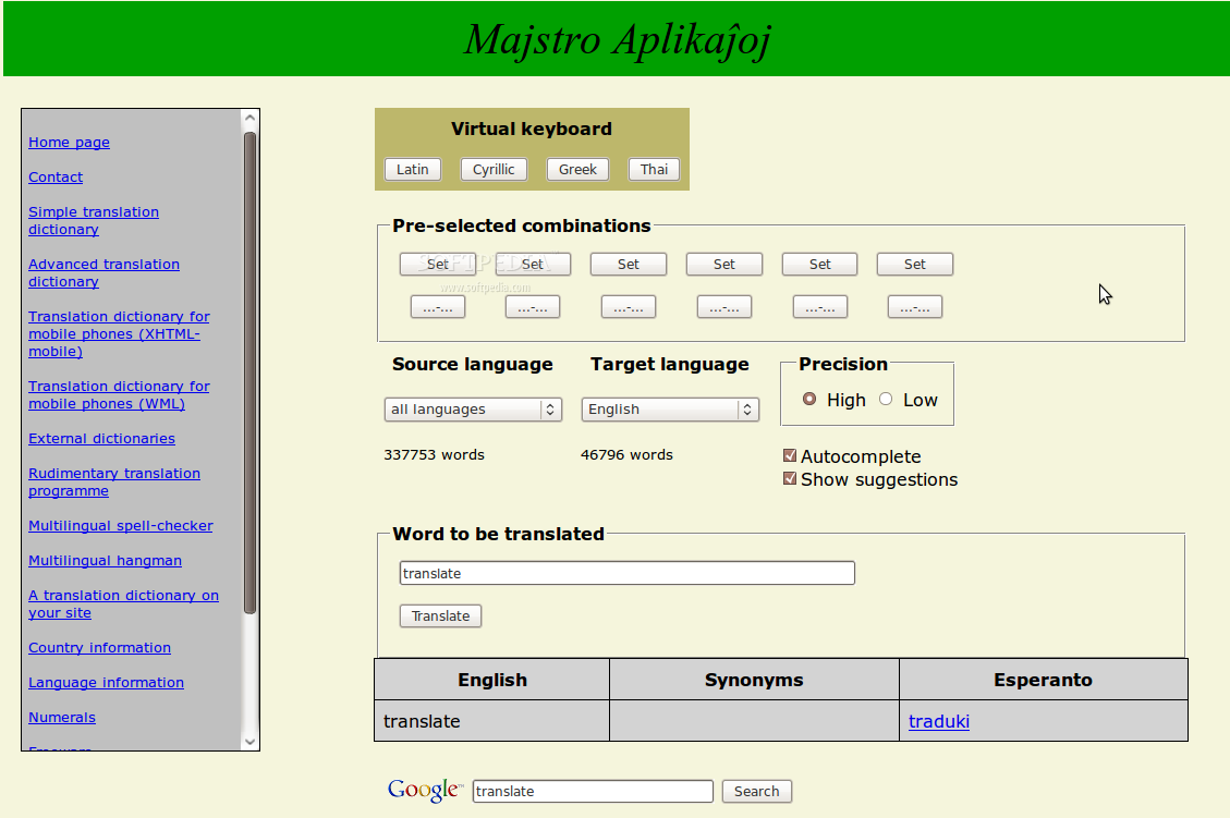 Majstro Translate screenshot 2