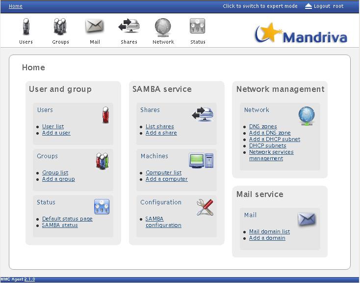 mandriva server