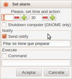 Mayordomo clock screenshot 2