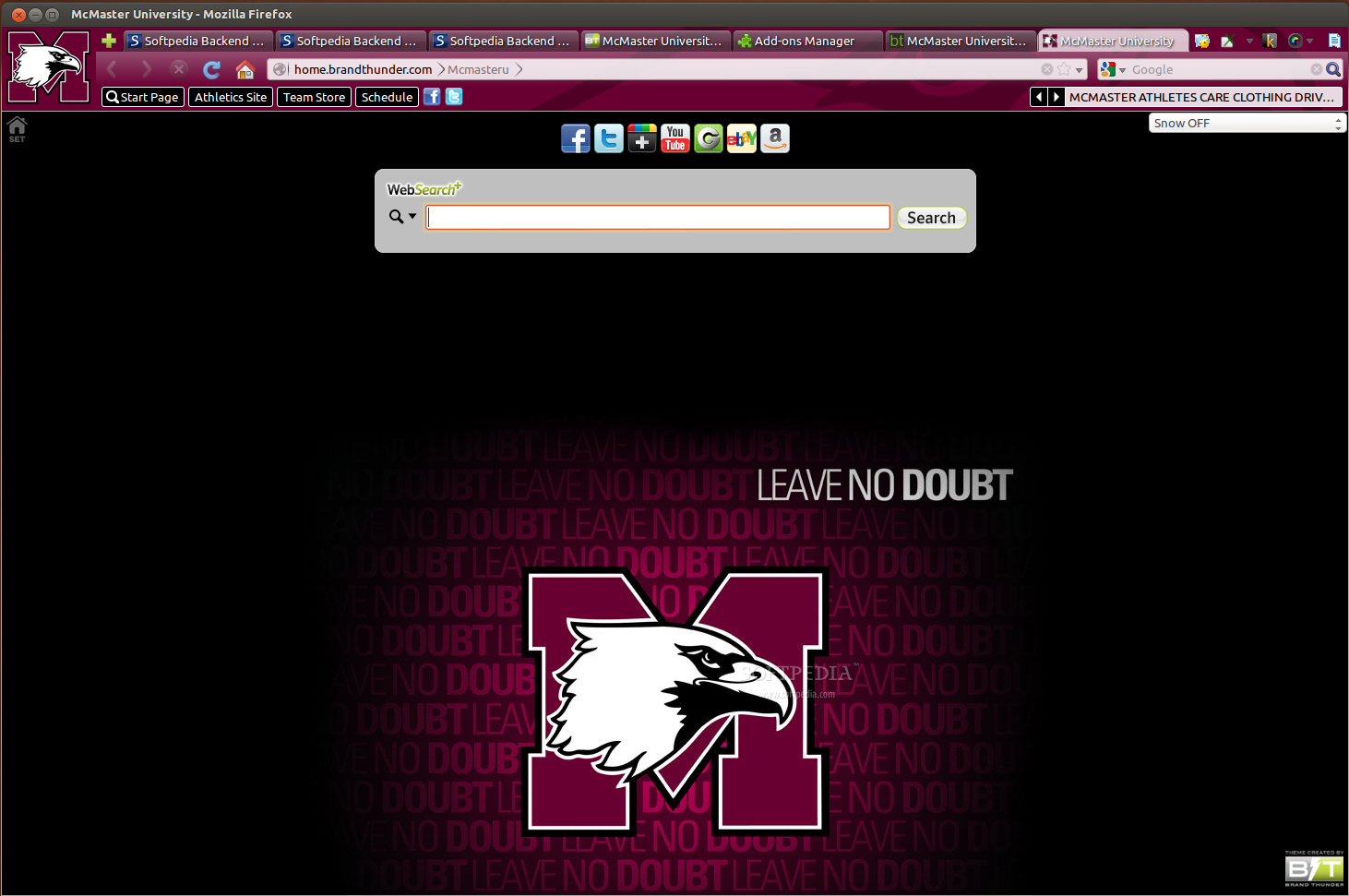 McMaster University for Firefox screenshot 1