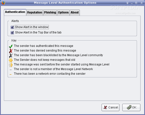 Message Level Authentication for WebMail screenshot 1