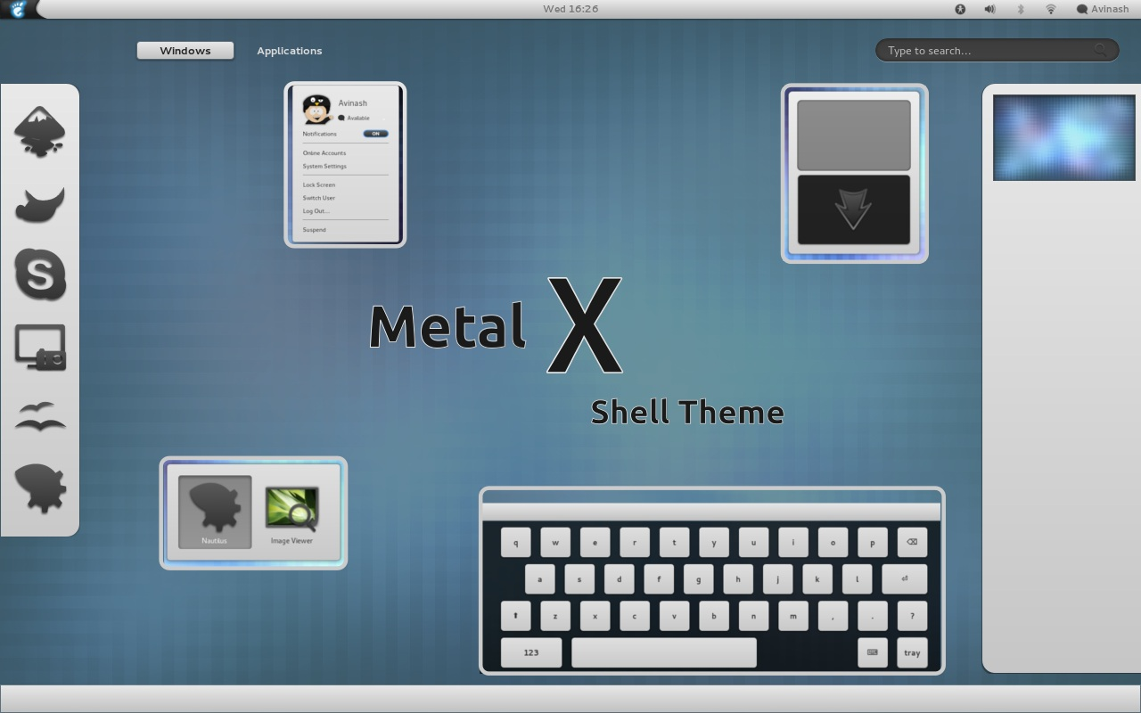 Metal X 1.4 (compatible with GNOME 3.2) screenshot 1