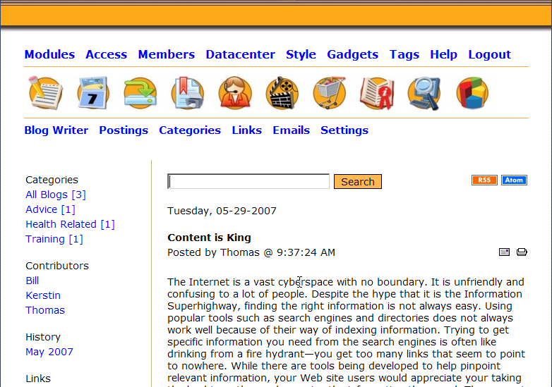 Miniweb screenshot 1