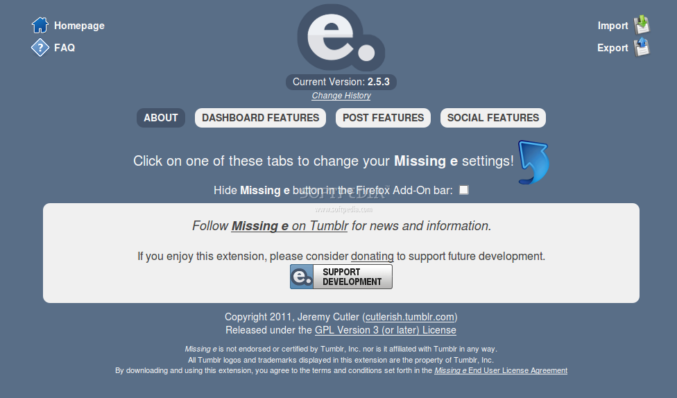 Missing e for Google Chrome screenshot 4