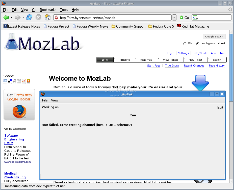 MozLab screenshot 1