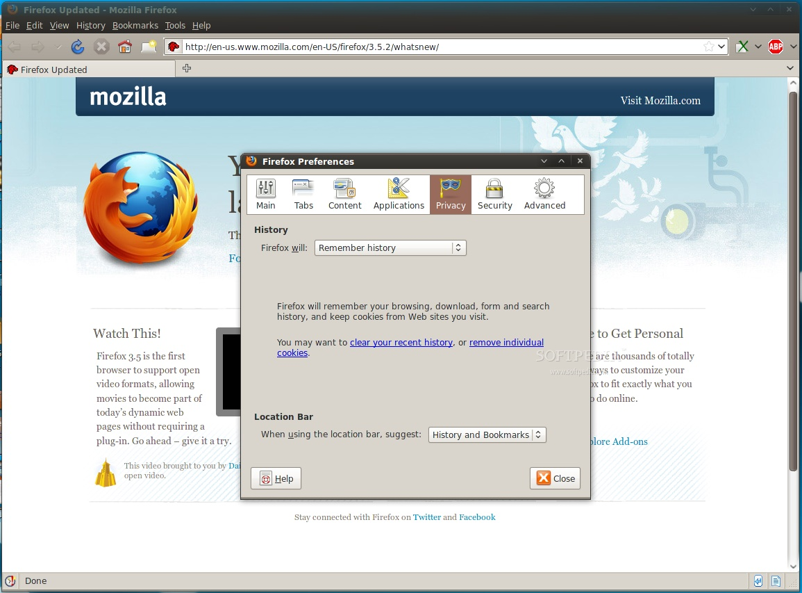 how to get firefox to open new tab in homepage