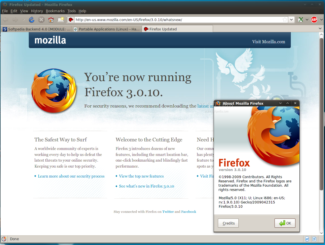Download Mozilla Firefox Portable 3.0.10 for Linux