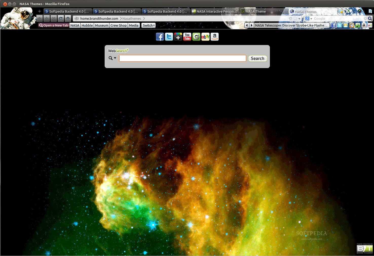 NASA Theme for Firefox screenshot 1