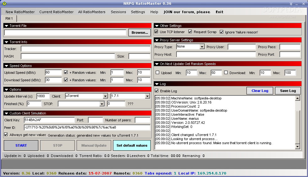 NRPG RatioMaster screenshot 1