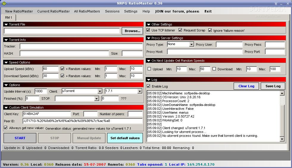 ratiomaster ubuntu