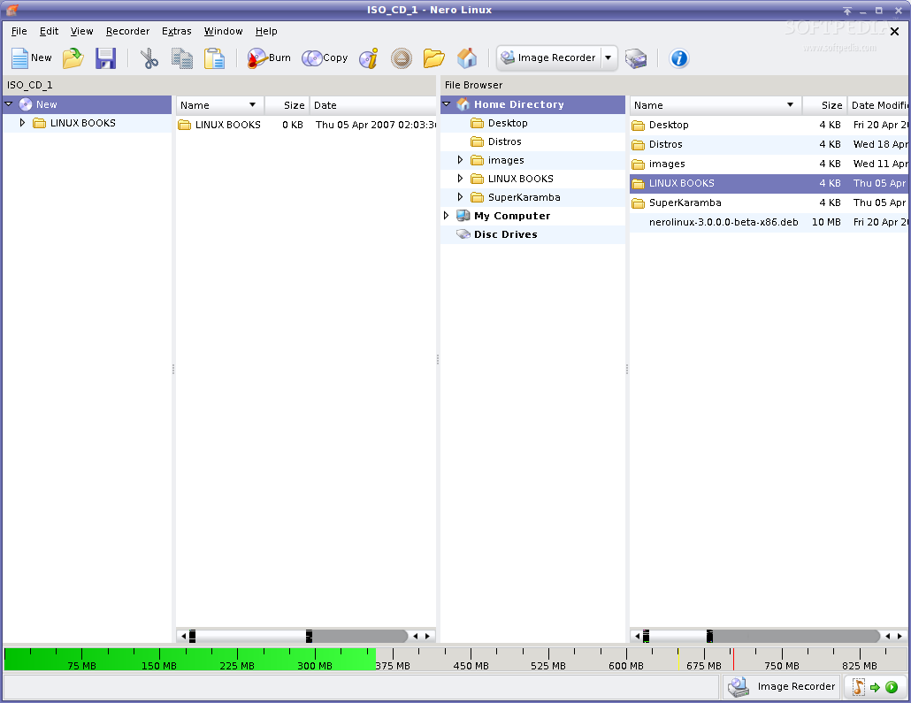 NeroLINUX screenshot 2