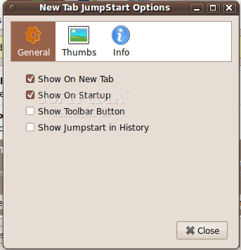 New Tab JumpStart screenshot 1