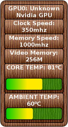 NvThermometer Screenlet screenshot 2