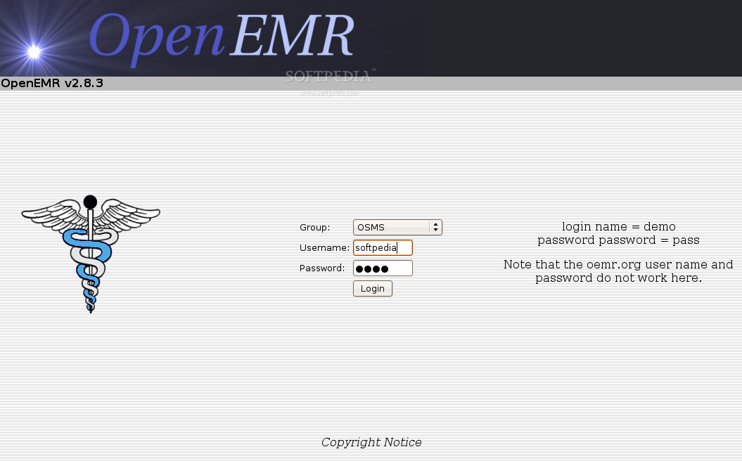 OpenEMR screenshot 1