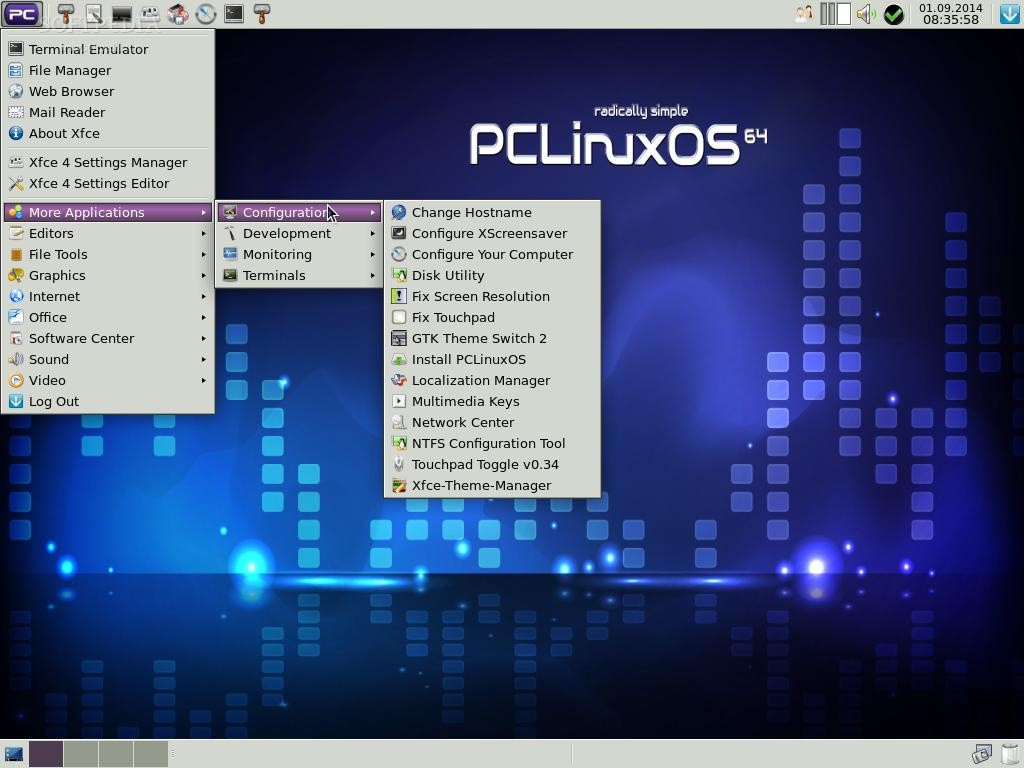 Download PCLinuxOS Xfce Base Community Remaster 2014 10