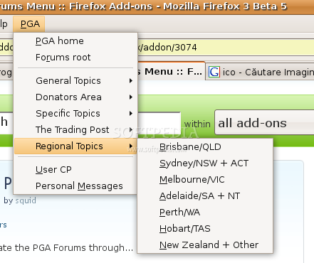 PGA Forums Menu screenshot 3