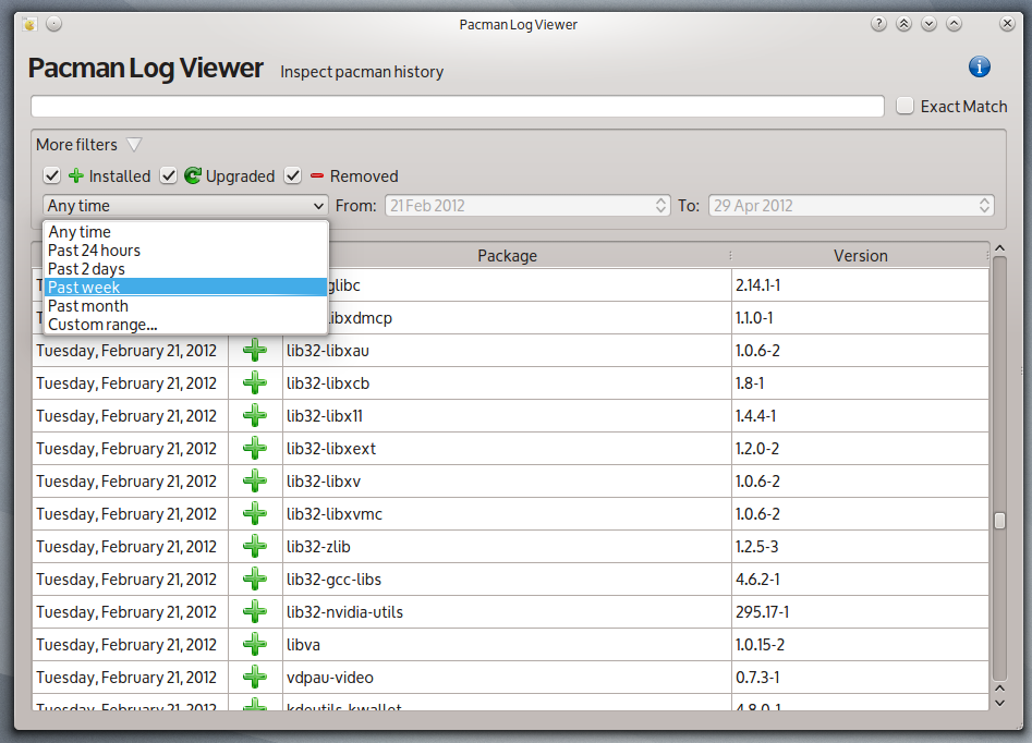 Download Pacman Log Viewer Linux 1 3 0