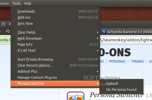 Persona Switcher for Thunderbird screenshot 1