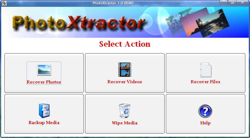 PhotoXtractor screenshot 1