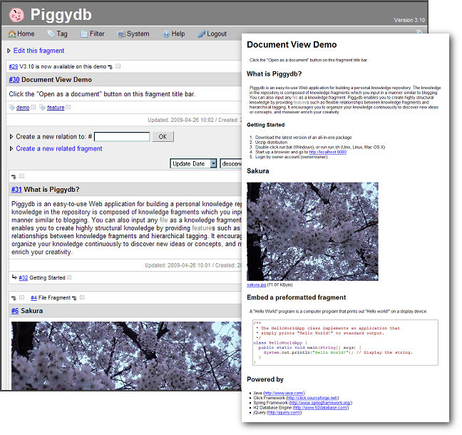 Piggydb screenshot 2