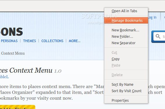 Places Context Menu screenshot 1