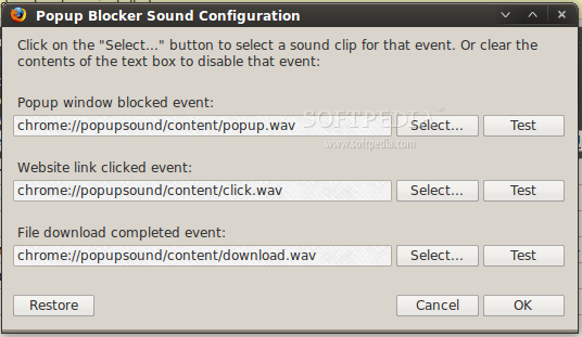 PopupSound screenshot 1