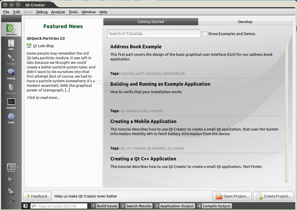 Download Qt Creator Linux 4.8.0 Qt Creator - screenshot #1 ...