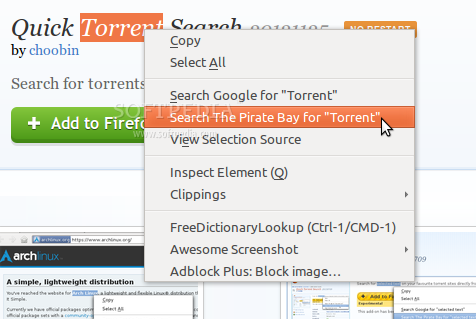 Quick Torrent Search screenshot 1