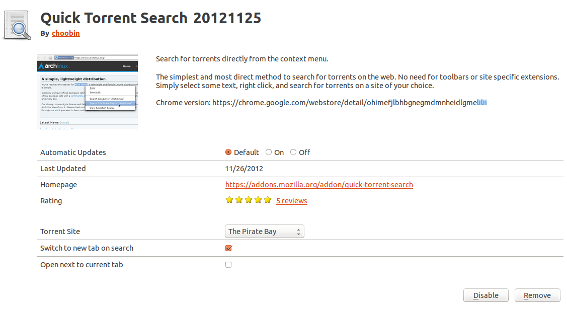 Quick Torrent Search screenshot 2