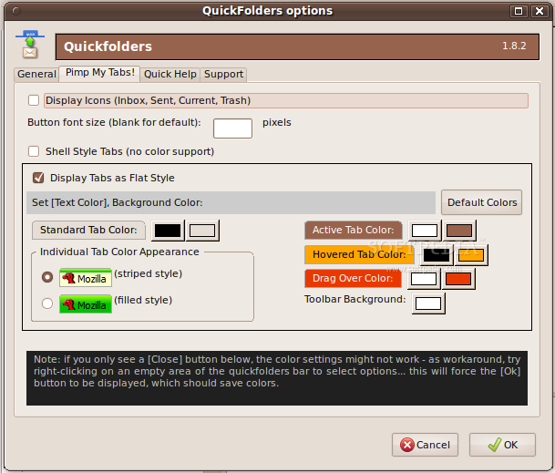 QuickFolders (Tabbed Folders) for SeaMonkey screenshot 1