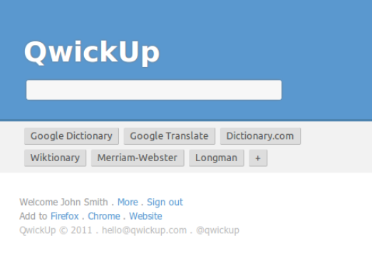 QwickUp for Google Chrome screenshot 1