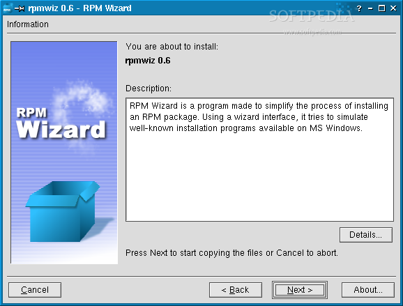 Download RPM Wizard Linux 0 7