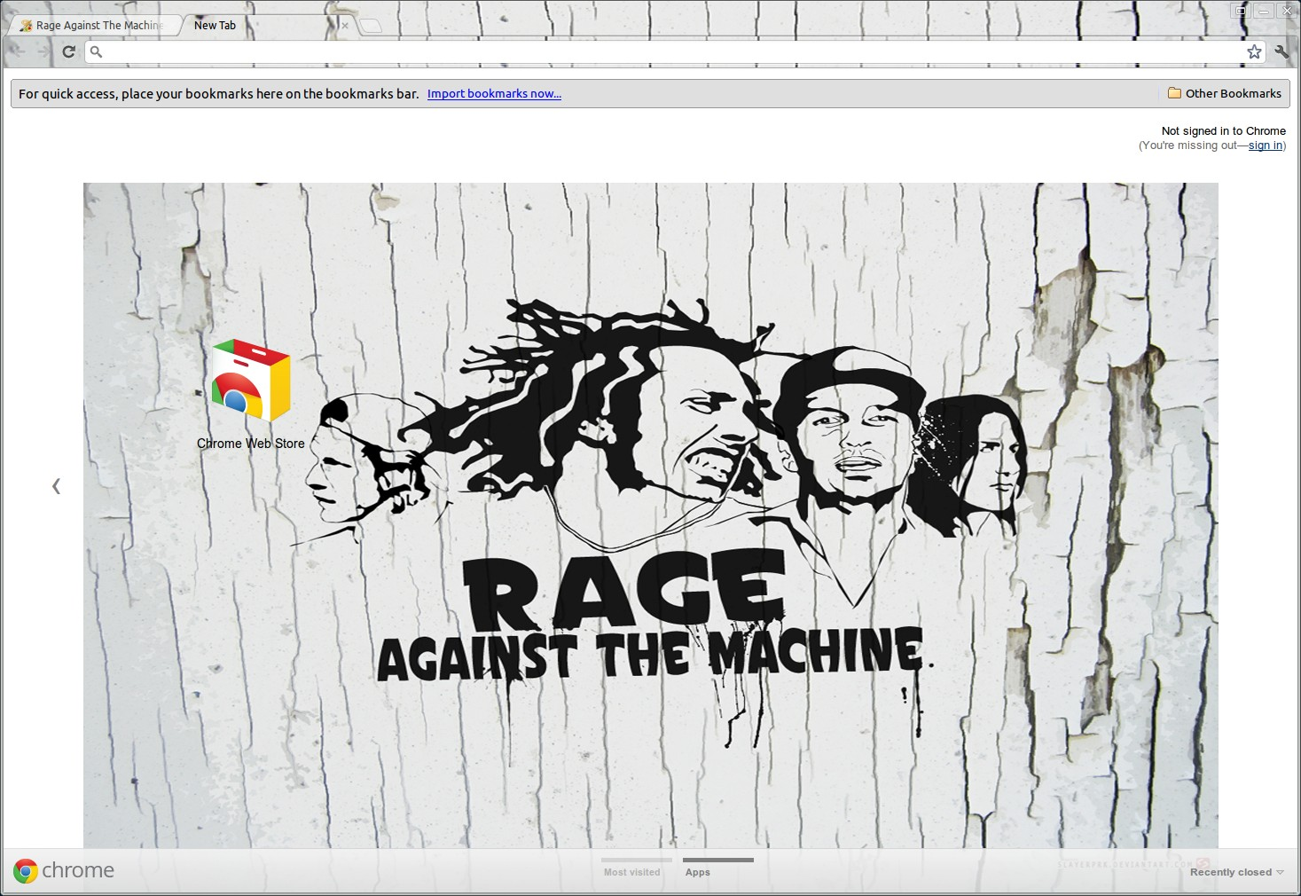 Rage Against The Machine Cracked Wall Theme screenshot 1