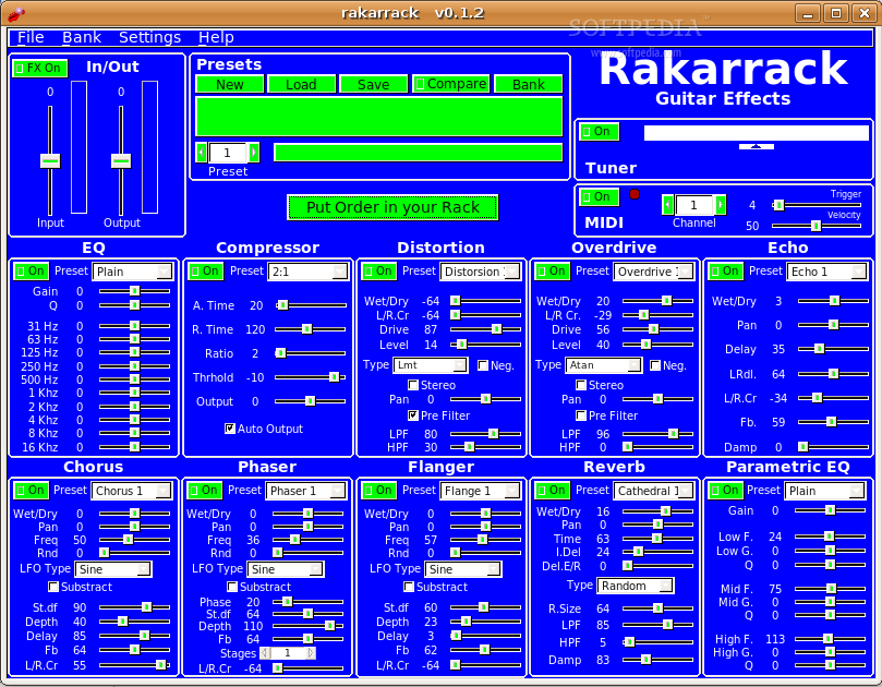 Rakarrack screenshot 1