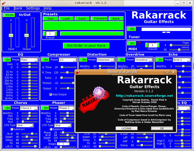 Rakarrack screenshot 3