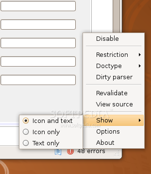 Relaxed the HTML Validator for Firefox screenshot 3