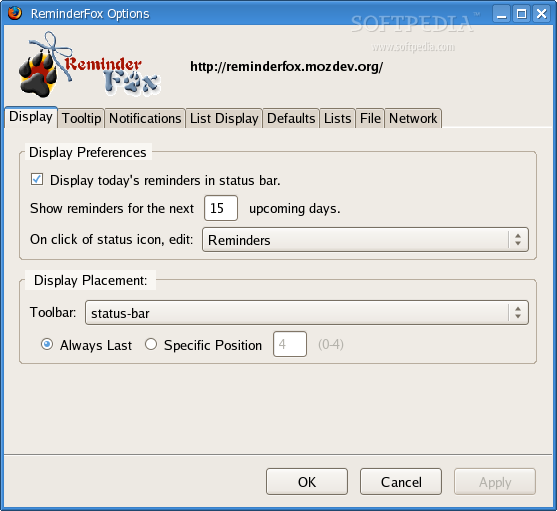 ReminderFox for SeaMonkey screenshot 1