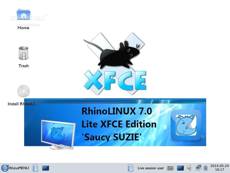 Download RhinoLINUX Lite XFCE Edition 7 0